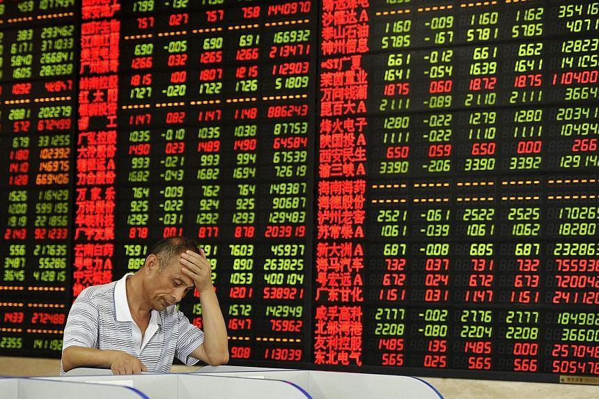 After hitting a peak in mid-June, Chinese shares lost more than US$3.5 trillion (S$4.9 trillion) in value in just a month.