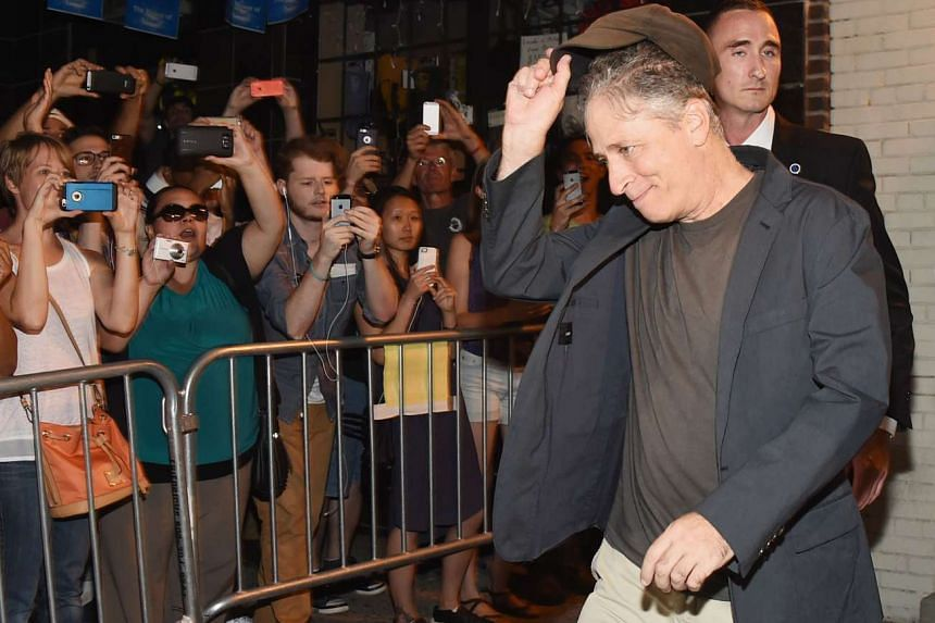 Jon Stewart exits the studio following the final taping of The Daily Show With Jon Stewart.