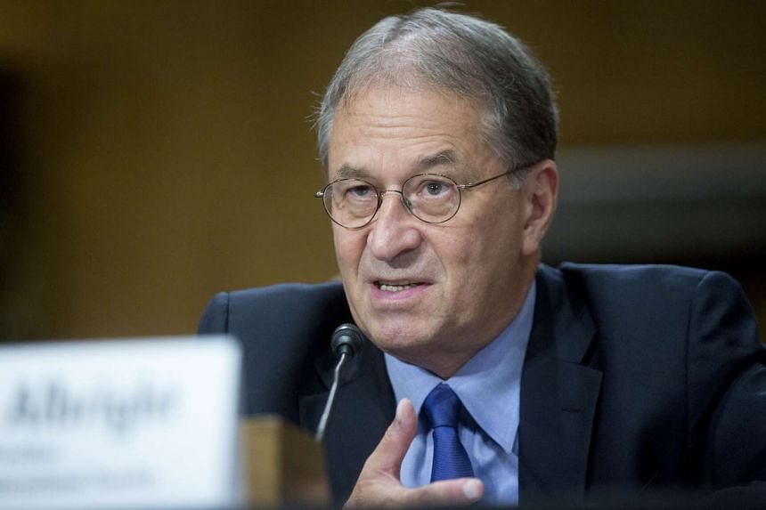 David Albright, founder and president of the Institute for Science and International Security, speaks during a Senate Foreign Committee hearing on the Joint Comprehensive Plan of Action (JCPOA) regarding Iran's nuclear program in Washington, D.C., U.