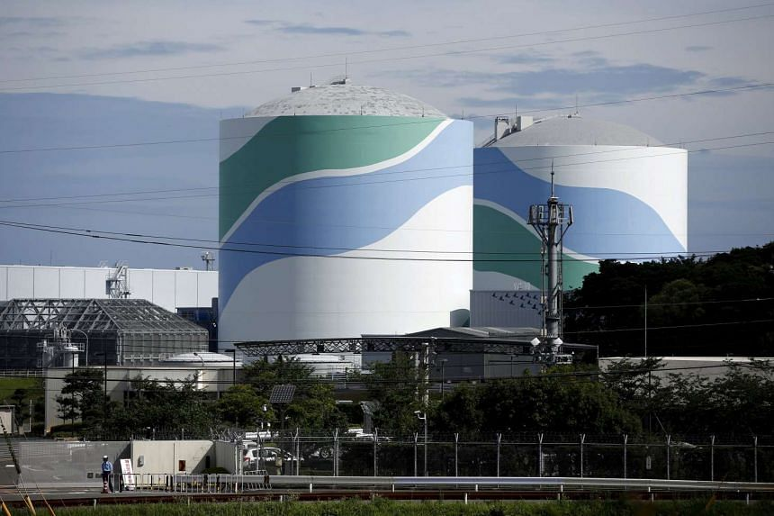 Reactor buildings are seen at Kyushu Electric Power's Sendai nuclear power station on July 8, 2015.
