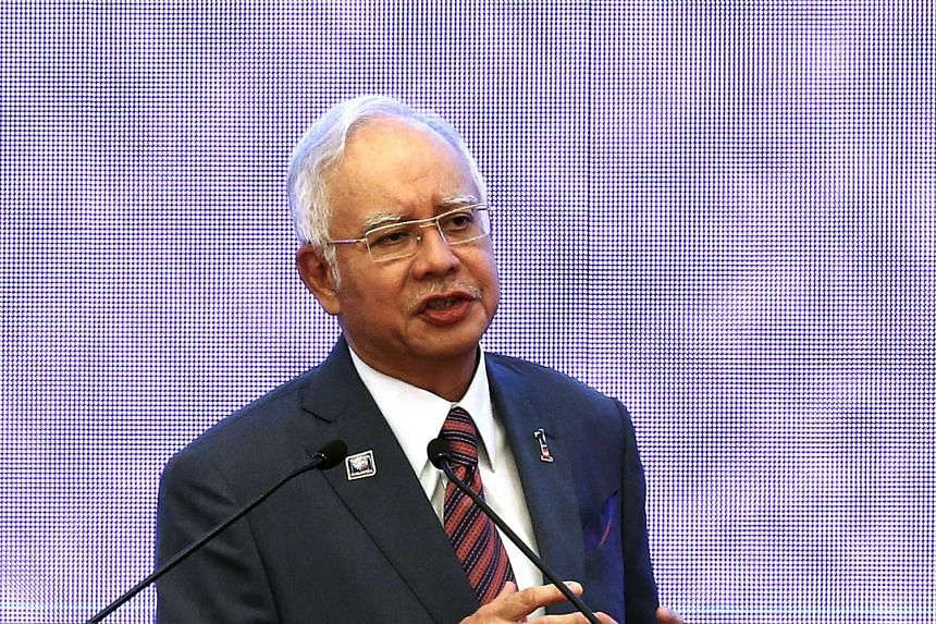 PM Najib Razak speaking at the 48th Asean foreign ministers meeting in Kuala Lumpur on Aug 4, 2015.