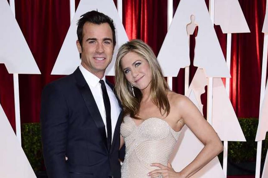 Jennifer Aniston married actor and screenwriter Justin Theroux (both above).