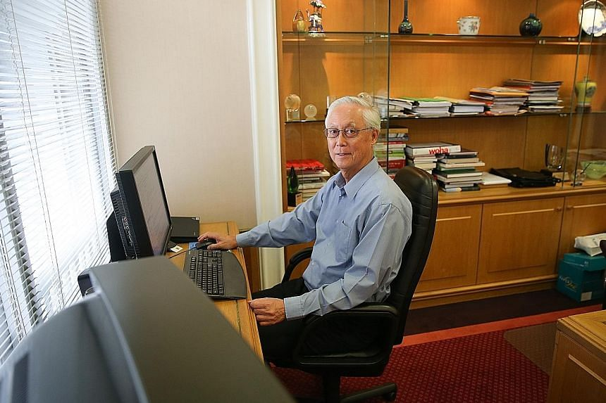 Emeritus Senior Minister Goh Chok Tong in his Istana office. Mr Goh took over the reins from Mr Lee Kuan Yew in November 1990.