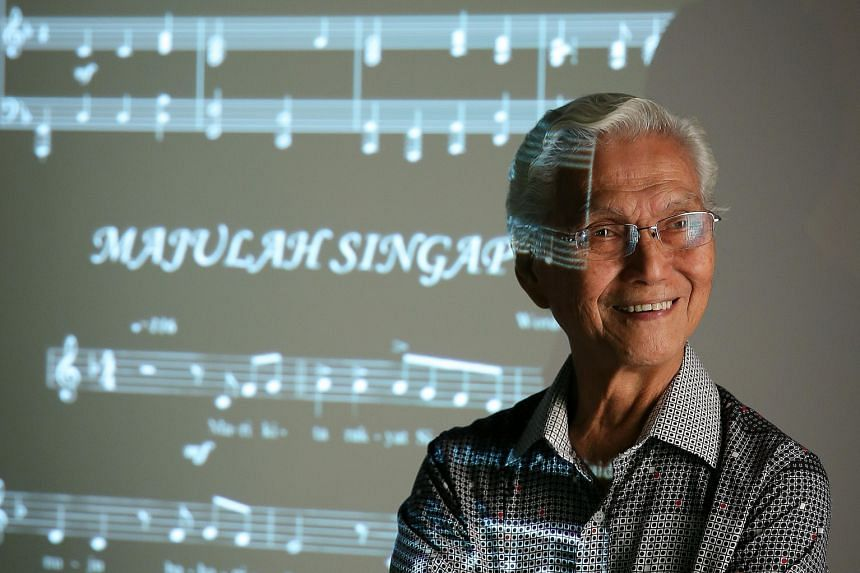 Art teacher Wong Hiong Boon, 83, has sung his fill of national anthems in his day. Majulah Singapura was the first that Singaporeans could call their own, he said, as they witnessed the birth of a nation. Singapore's new leaders standing at attention