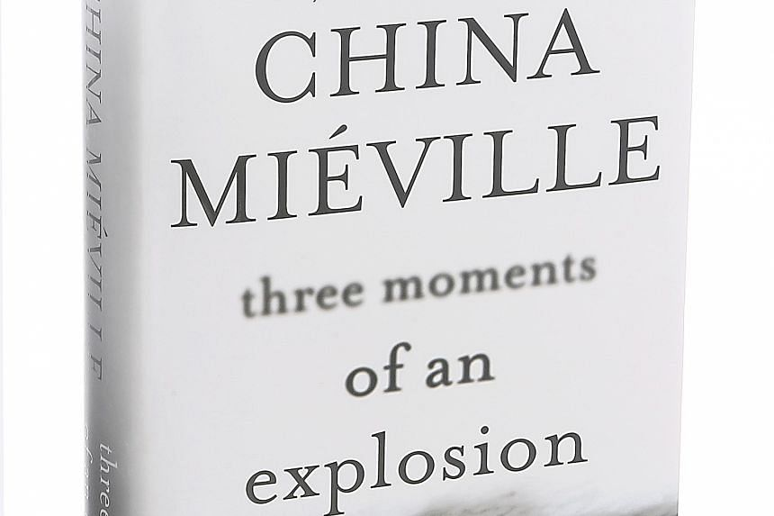 Author China Mieville (top) has new ways to describe the impending apocalypse in Three Moments Of An Explosion (above).