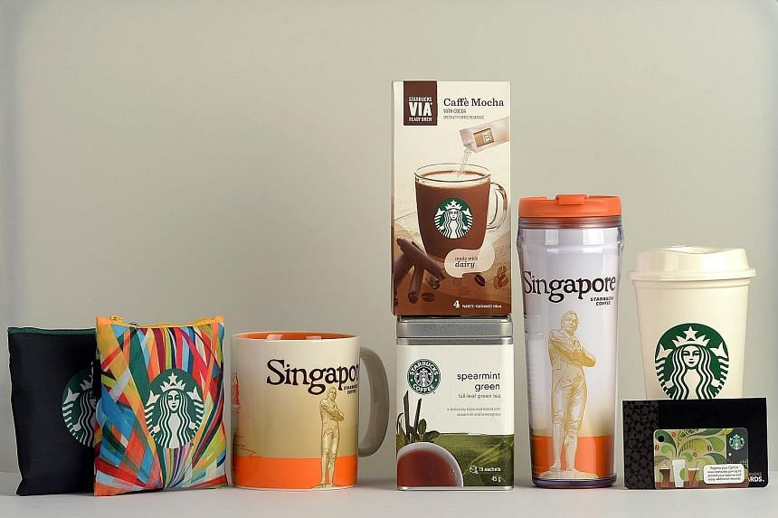 The first 170 people who register for Sept 27's The Straits Times Run at the Hub at today's SG50 Carnival at the Singapore Sports Hub will get a Starbucks goodie bag worth over $100. Besides two limited-edition Starbucks reusable tote bags, the goodi