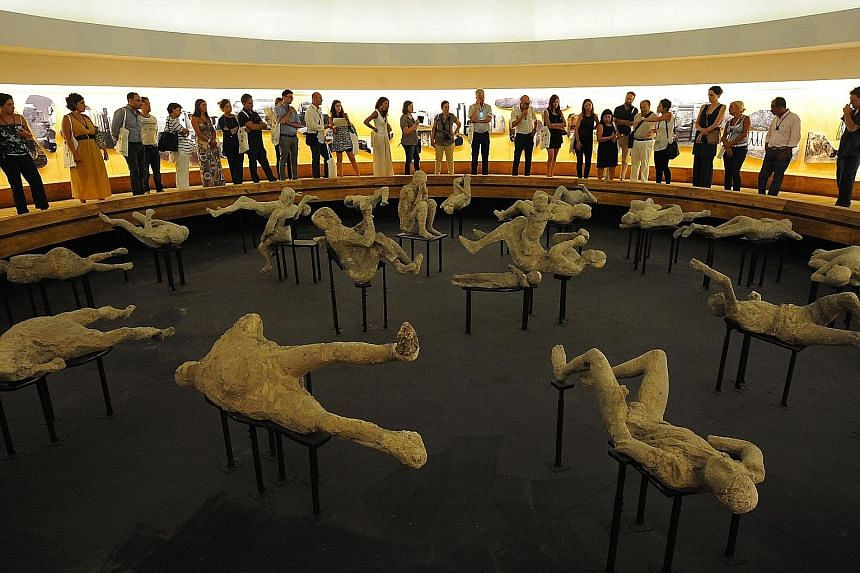 The transformation of Pompeii includes a special exhibition of around 20 victims of the volcanic eruption preserved in plaster.