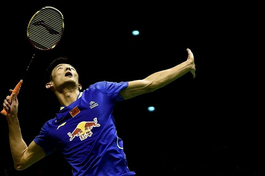China's Chen Long prepares to hit a shot against his compatriot Lin Dan during their men's singles final match at the 2015 Malaysia Open Badminton Superseries in Kuala Lumpur on April 5, 2015.