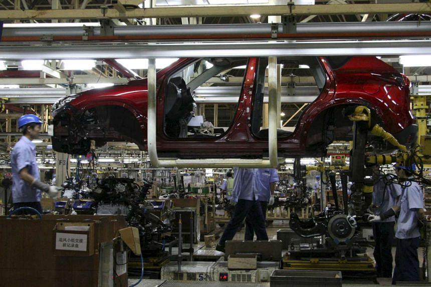 A Mazda CX-5 is seen in production inside the Changan Mazda factory in Nanjing, Jiangsu province, on July 6, 2015.