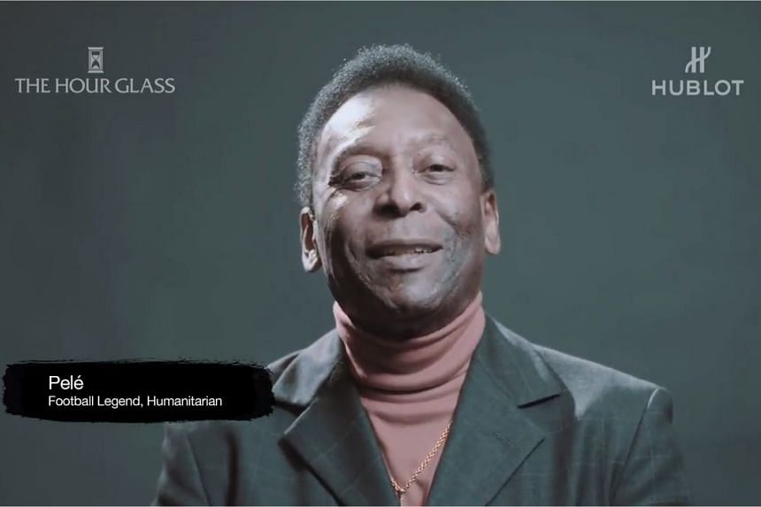 Pele wishes Singapore a happy 50th birthday.