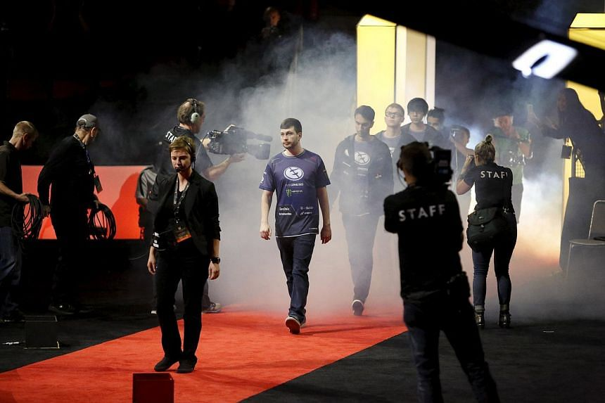 Evil Geniuses arriving for the Grand Finals.