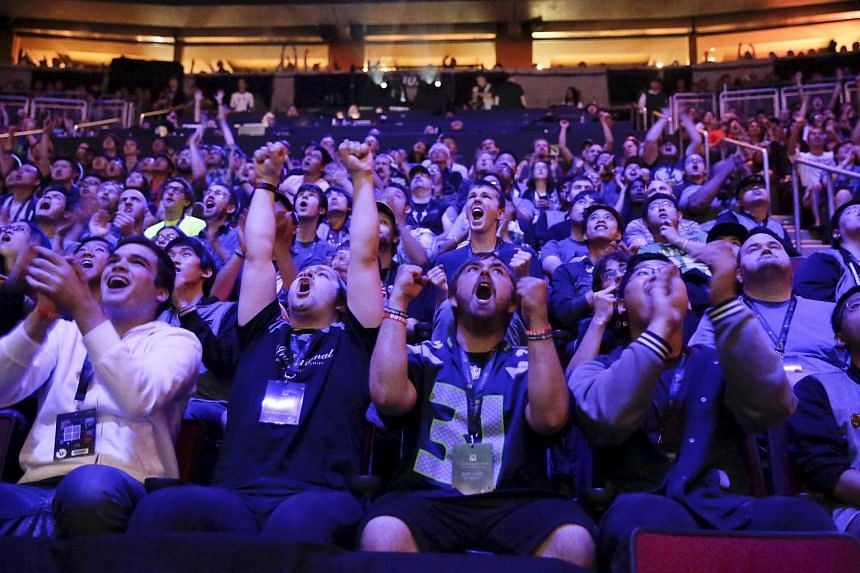 Fans during the championships at Key Arena in Seattle.