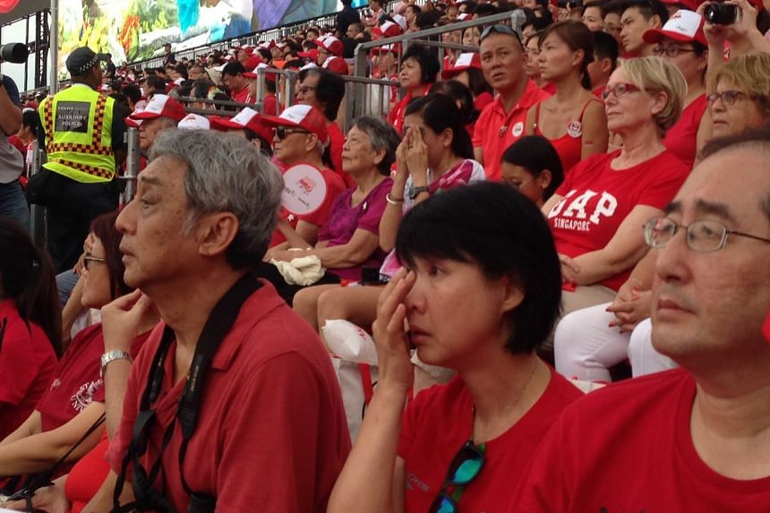 The tribute video to the late founding prime minister Lee Kuan Yew drove some spectators to tears.