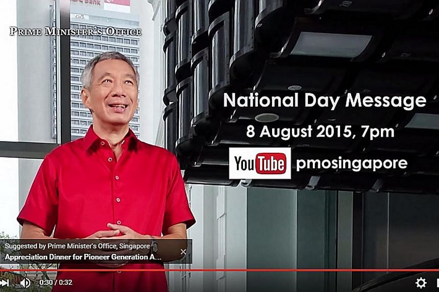 Prime Minister Lee Hsien Loong had shared a short clip of what went on behind the scenes at the recording of his National Day Message.