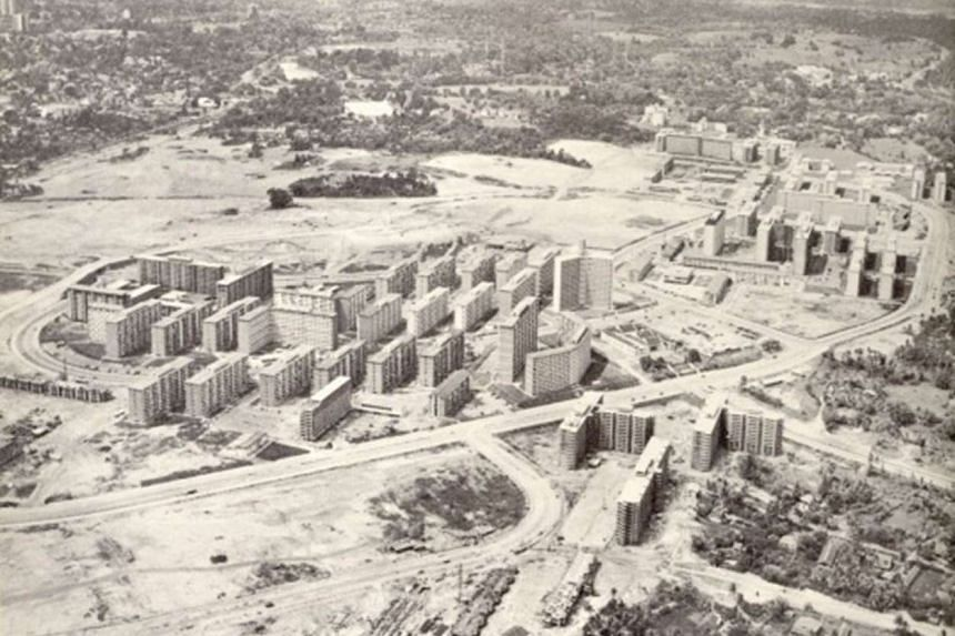 (Above) Construction of Toa Payoh began in 1965.