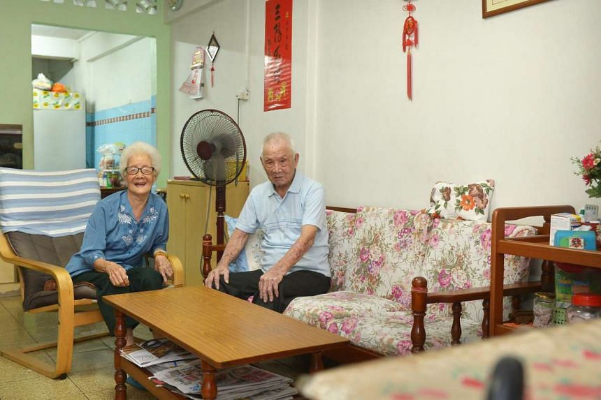 Madam Lim Geok Chuan, 92, and her husband, Mr Tan Meng Choon, 99, were among the earliest residents in Toa Payoh new town. They moved there in 1969 and still live in the same three-room flat today.