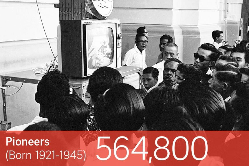 Thousands at Victoria Theatre for Television Singapore's opening on Feb 15, 1963. Culture Minister S. Rajaratnam was the first to appear on screen.
