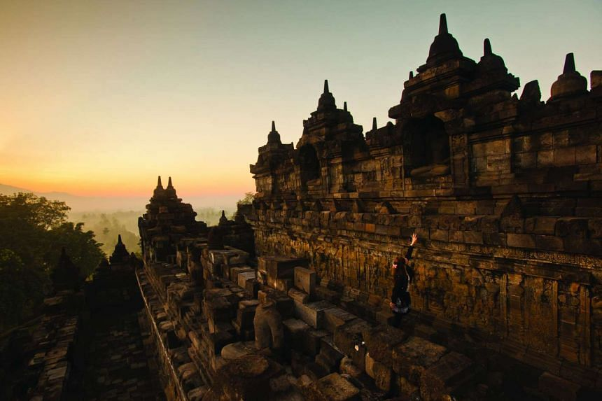 Borobudur, the world's largest Buddhist monument, was built between the 8th and 9th centuries in Java.