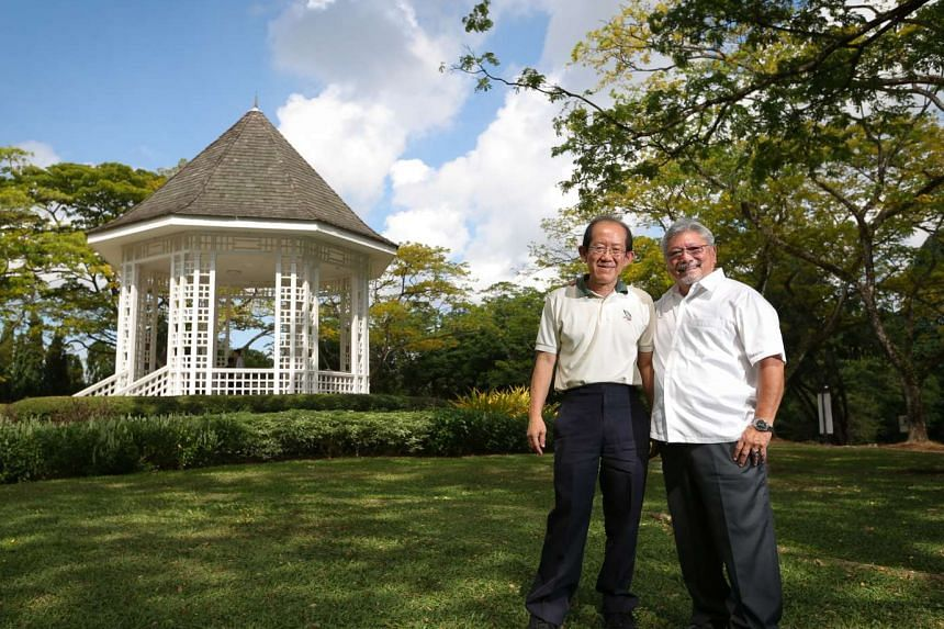 Dr Leong Chee Chiew (left) and Dr Kiat W. Tan were part of the team that put together the $51-million Master Plan for the Gardens.