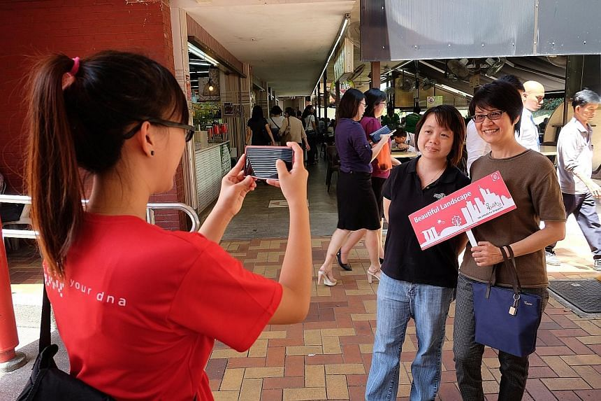 About 800 students from Ngee Ann Polytechnic's School of Life Sciences and Chemical Technology approached 50,000 strangers to get them to smile for charity. Each smile collected $1.