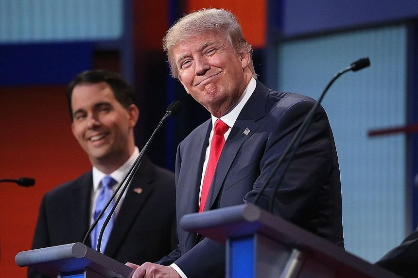 Republican presidential candidate Donald Trump (above) is facing a backlash over his comments about journalist Megyn Kelly.