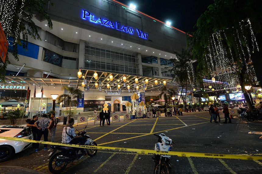 Three men who were at Low Yat Plaza when a brawl erupted following an alleged shoplifting incident, have been fined RM1,800 (S$634) each.