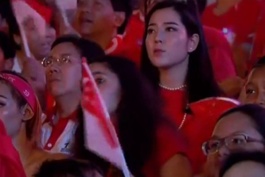 Ms Emma Lee was frequently seen on camera during the National Day Parade 2015.