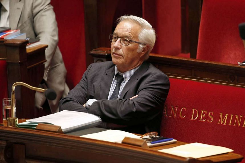 French Labour Minister Francois Rebsamen listening to the debate after he presented his draft bill on social dialogue at the National Assembly in Paris, France, on May 26, 2015.