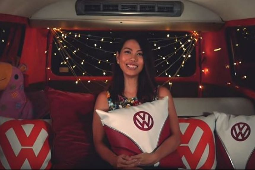 A quirky a capella performance of national day songs in a vintage van for National Day 2015.