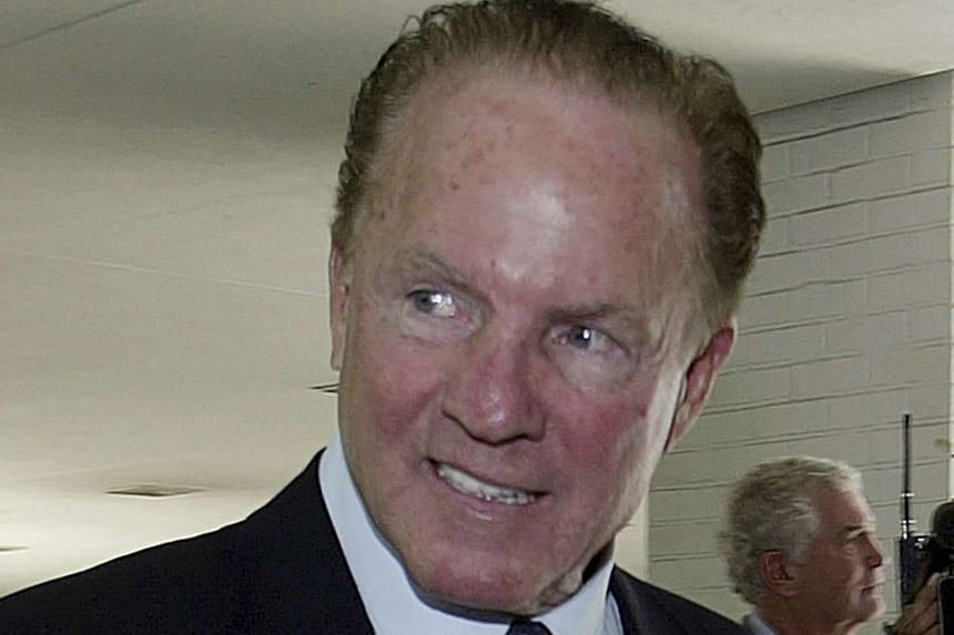 National Football League great Frank Gifford in a file photo taken July 18, 2003. A star on the football field for the New York Giants and later a star in the broadcasting booth as part of the Monday Night Football team that helped popularise the NFL