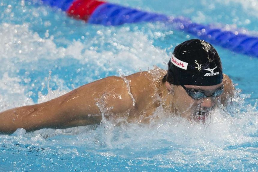 Joseph Schooling on his way to clinching bronze in an Asian record of 50.96sec in the 100m butterfly at the world championships in Kazan, Russia - the country's first medal ever at the biennial meet.