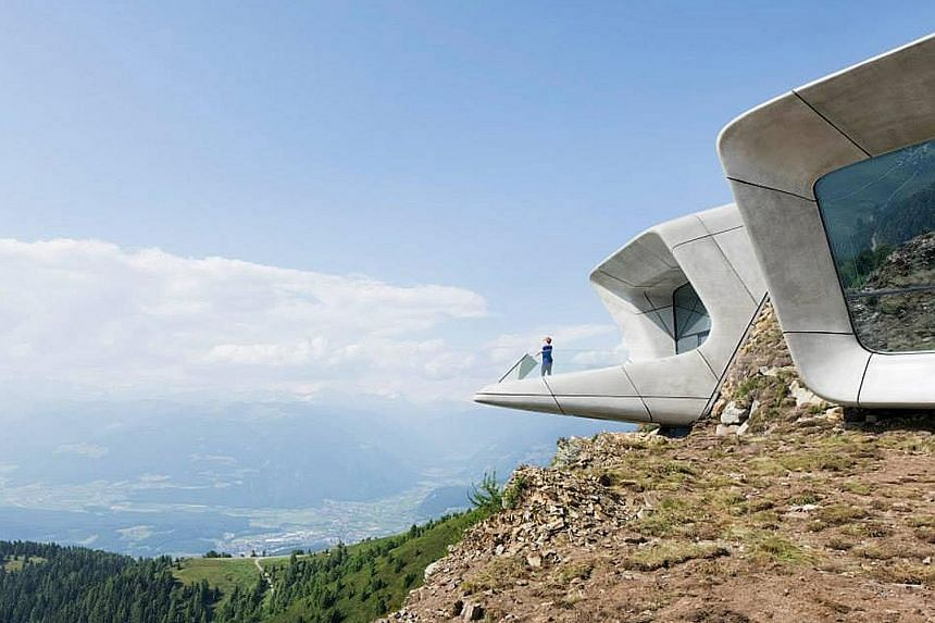 Now that the Messner Mountain Museum Corones (left) is completed, mountaineer Reinhold Messner (below) says he will return to film-making and writing.