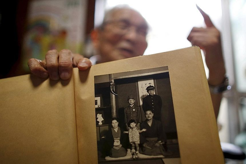 "Painful memories: ""Even now, I cannot forget the appearance of those friends who were victims of the atomic bombing."" - MR ATSUSHI HOSHINO, 87, a survivor of the Hiroshima bombing who now lives in Fukushima City."