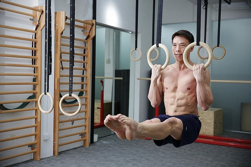 The key to improvement is consistency, says gymnastic strength training coach Daniel Chan, who makes time to exercise, even when on holiday.