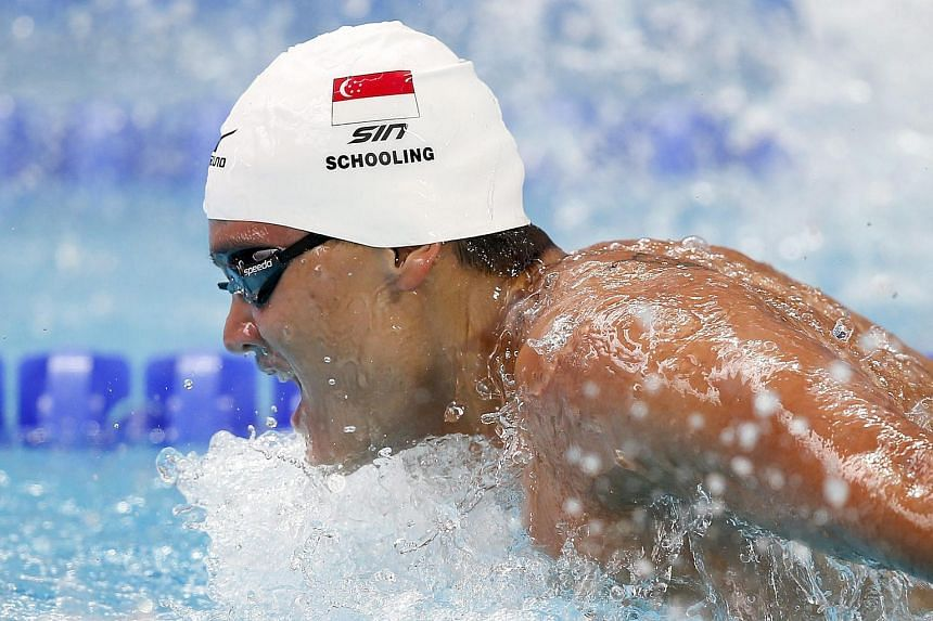 Joseph Isaac Schooling of Singapore competes in the men's 200m Butterfly Heats during the Fina Swimming World Championships at Kazan arena in Kazan, Russian Federation, on Aug 4, 2015.