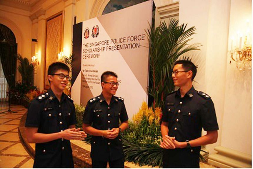 (left to right) INSP Ryan Lai, INSP Darrel Long and INSP Tan Kuan Hian.