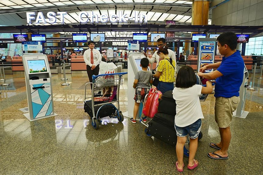 Changi Airport has installed close to 25 self-service check-in kiosks across SIA and SilkAir's check-in rows at T2 as it pushes for automation amid a tight labour situation.
