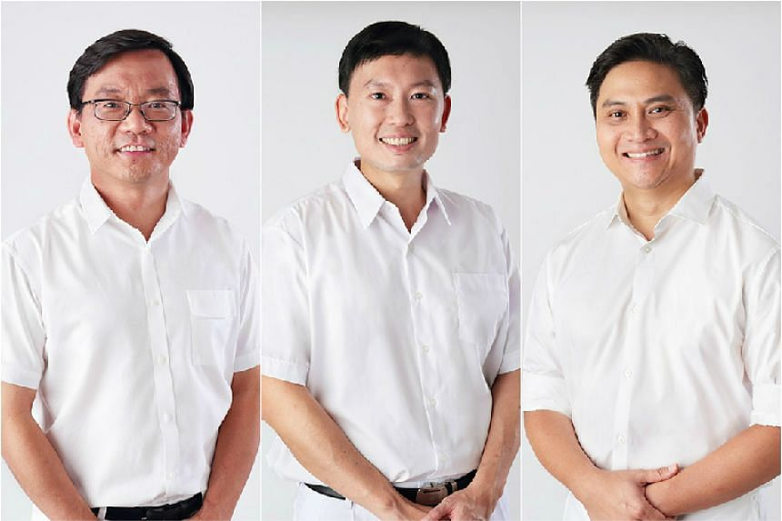 Mr Chong Kee Hiong (left), Mr Chee Hong Tat (centre), and Mr Saktiandi Supaat, 42 have been introduced as new candidates for the Bishan-Toa Payoh GRC for the coming general election.
