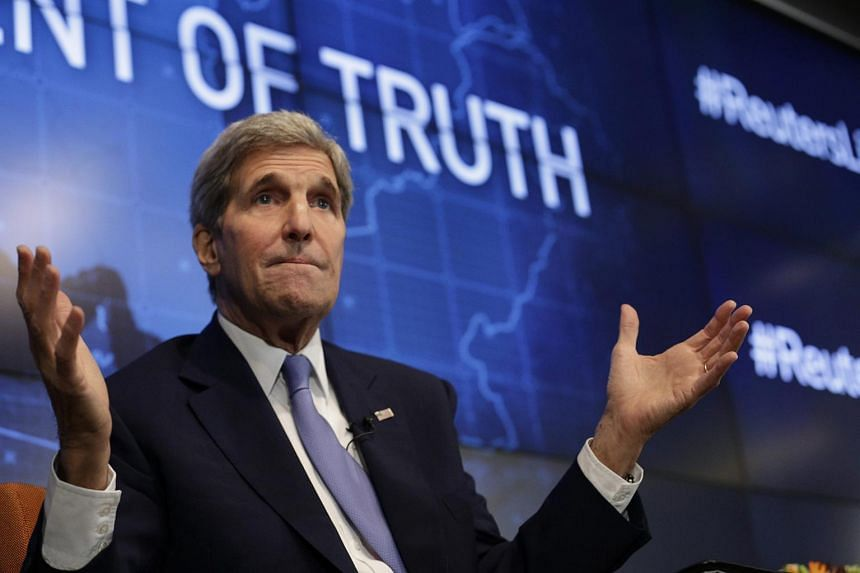 US Secretary of State John Kerry speaking in New York on Aug 11.