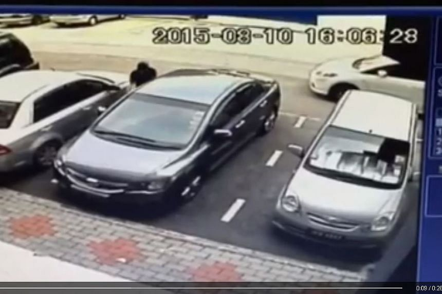 A CCTV video posted by motorist Nolan Khoo showed his Honda Civic car stolen in less than 10 seconds at a carpark outside Tebrau City, a popular shopping mall in Johor Bahru on Aug 10, 2015.
