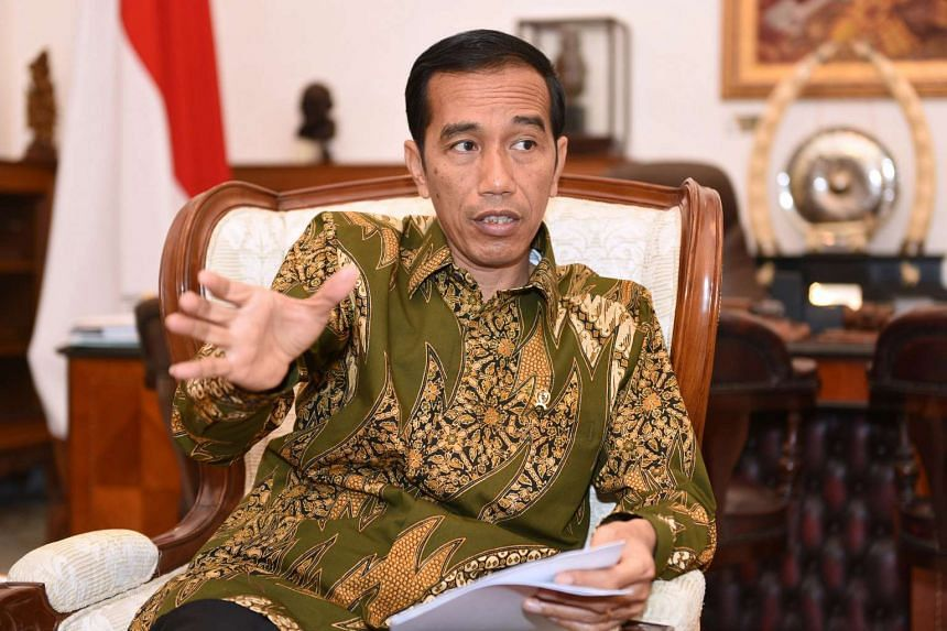 Indonesian president Joko Widodo during an interview on Feb 2, 2015.