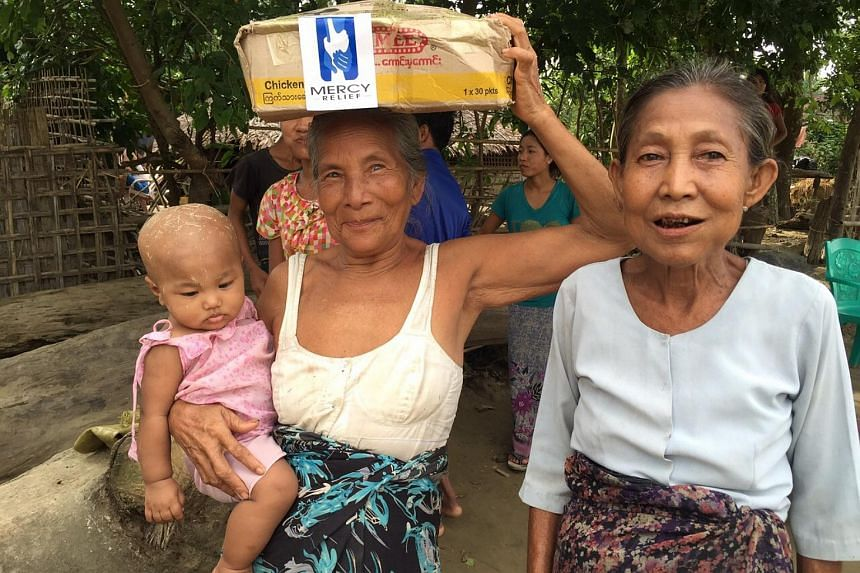 Each affected household received a family food pack which include rice, cooking oil, canned fish, salt and noodles.