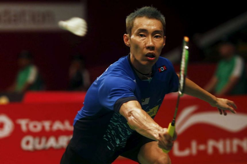 A determined Lee Chong Wei making a backhand return during his win over Lithuania's Kestutis Navickas. The unseeded Malaysian former world No. 1, having served an eight-month doping ban which ended in May, will need to overcome higher-ranked players to st