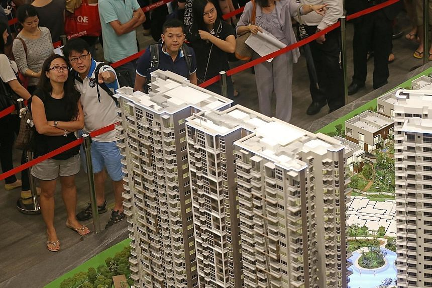 High Park Residences in Sengkang is enjoying roaring sales in recent weeks but investors in its smaller units may find it difficult to rent them out in future with many shoebox units coming onstream in 2017. ST PHOTO: SEAH KWANG PENG