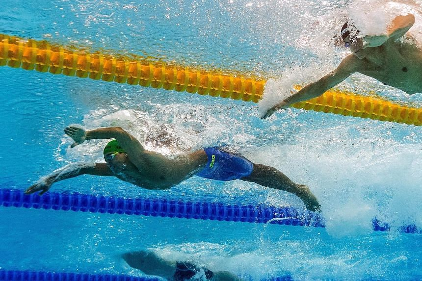 South African Chad le Clos leading the way to win 100m butterfly at the World Championships last week. Legend Michael Phelps aside, he sees Daiya Seto, Tom Shields and Ryan Lochte as contenders.