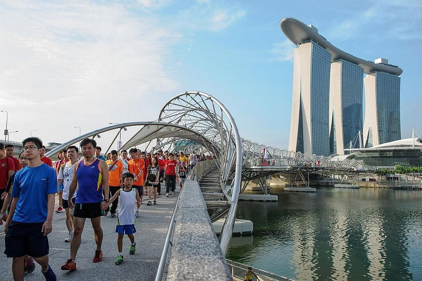 More than 9,000 people participated in the Heartstrings charity fun walk organised by MBS and Community Chest on Aug 7.