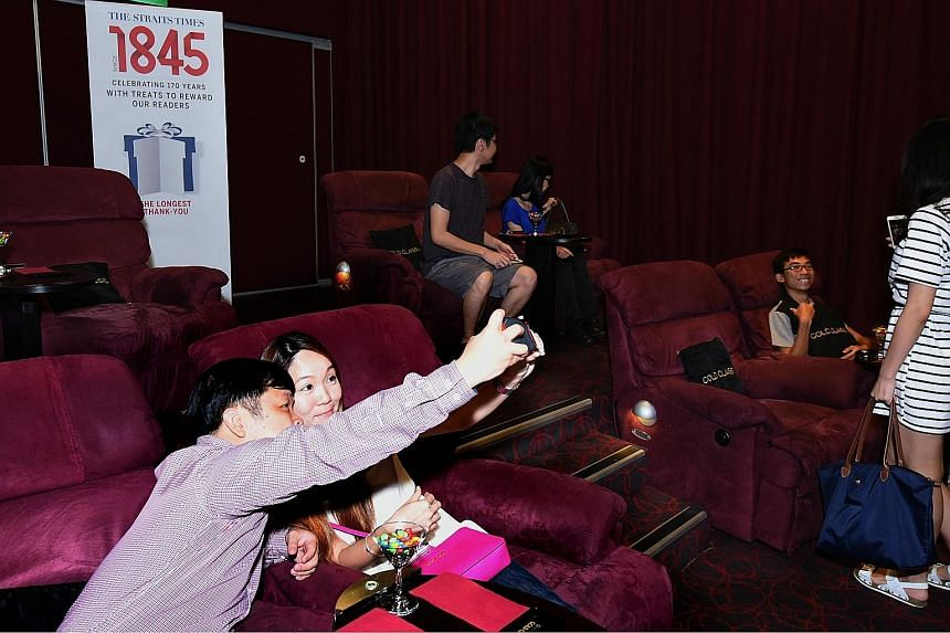 Twelve lucky readers of The Straits Times each won a pair of tickets to a screening of Fantastic Four at Golden Village VivoCity's Gold Class cinema last night. The prizes were part of ST170 Treats, a year-long giveaway to celebrate the newspaper's 1