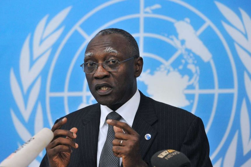 Gaye (above) tendered his resignation at the request of UN Secretary-General Ban Ki-Moon.