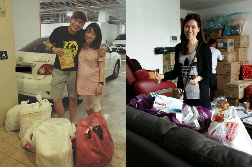 ERA agents dropping off supplies to be shipped to Myanmar.