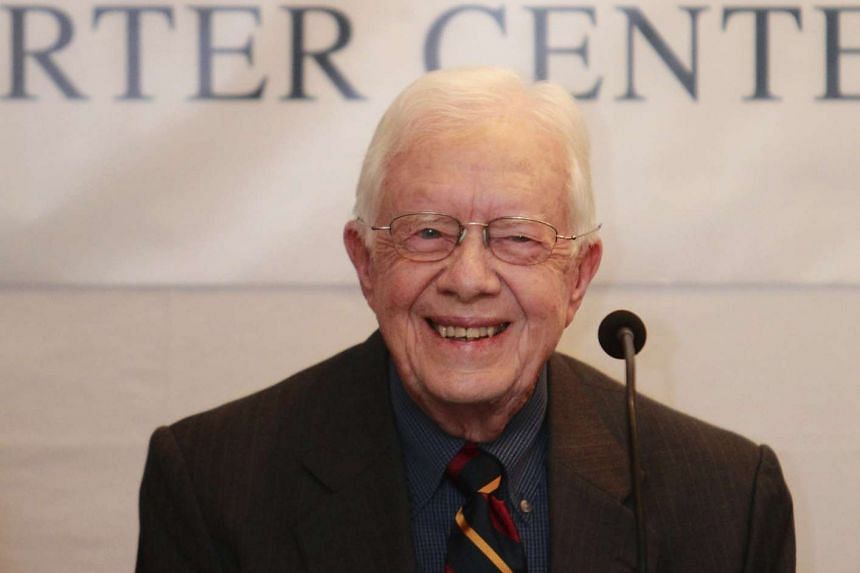 Former US president Jimmy Carter in a 2013 file photo.